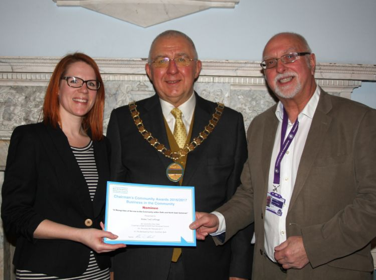 DHI volunteer highly commended by Council Chairman